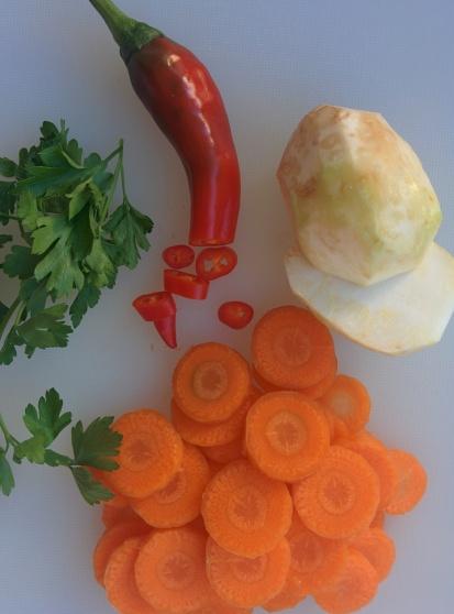 Celeriac, carrot