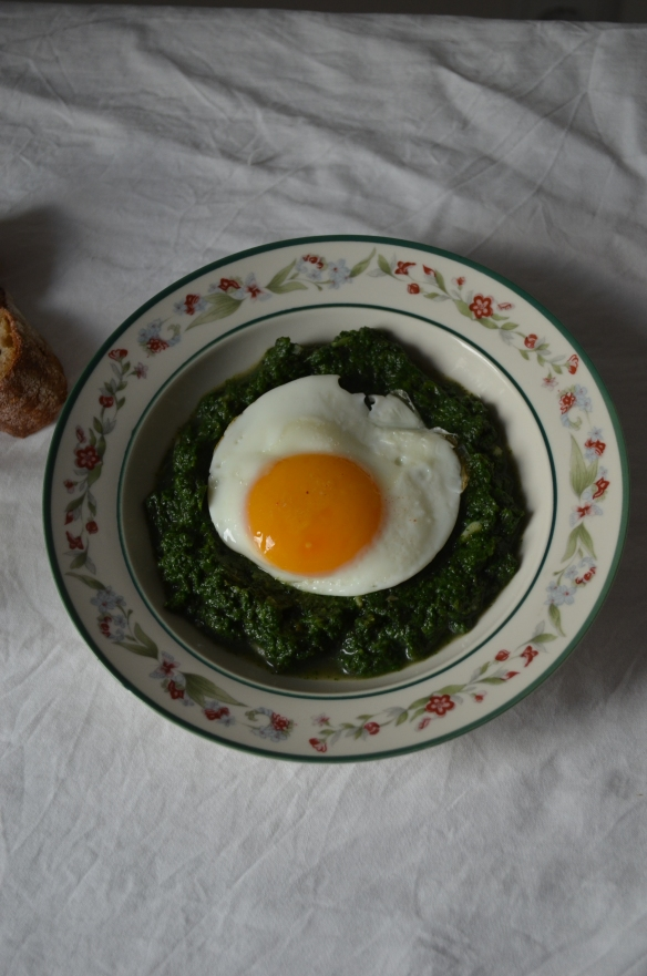nettle stew with fried egg